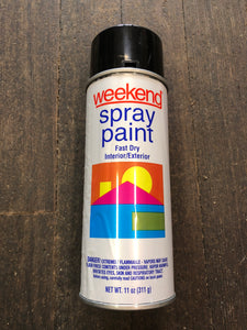Weekend Spray Paint Gloss Black