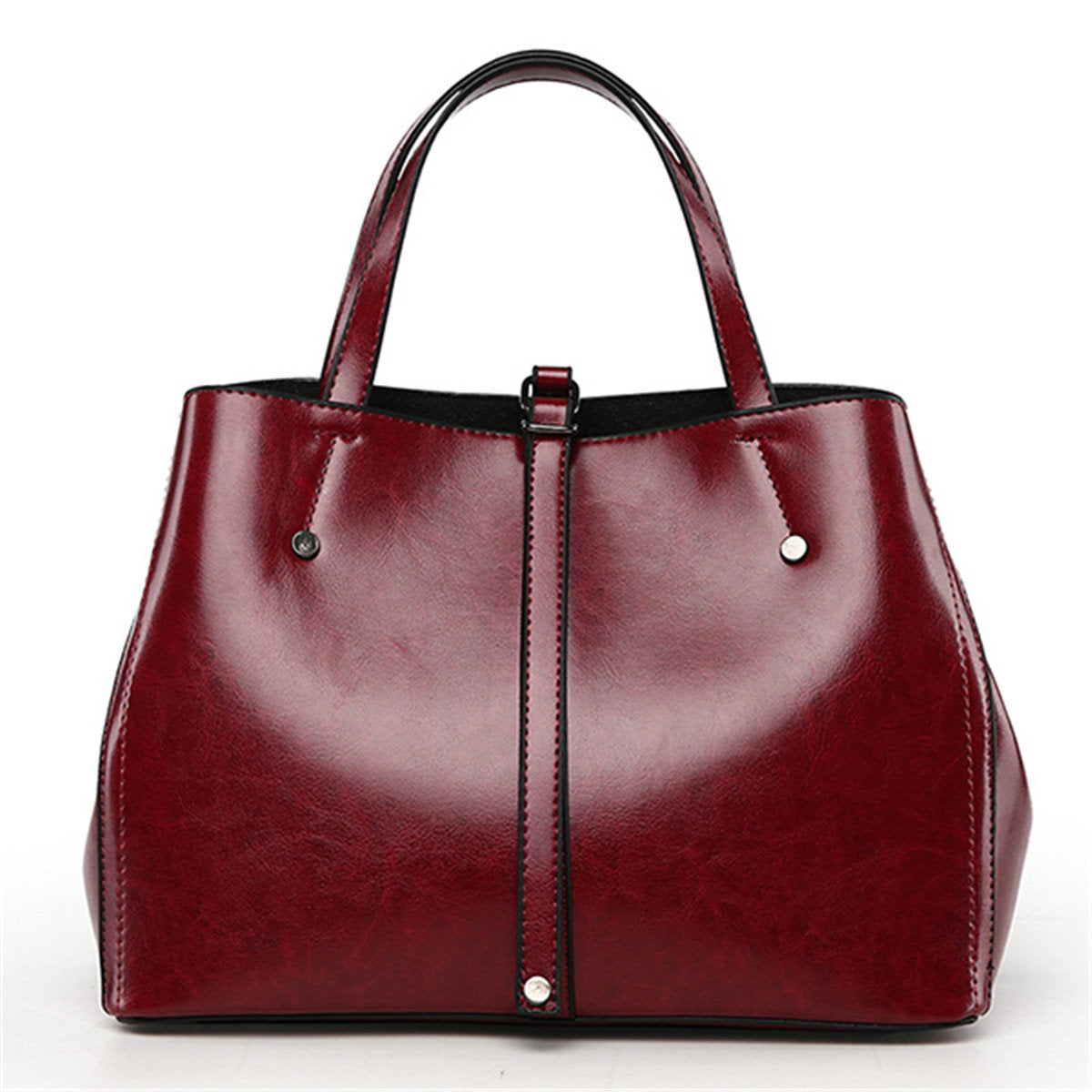 Leather Tote Bag Oil Wax Wine Tote Bags GiOli Shop