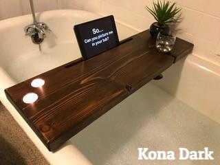Dub Tub Bath Tub Shelf Kona Dark 3