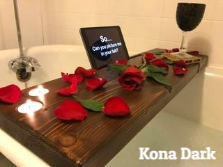 Dub Tub Bath Tub Shelf Kona Dark 2