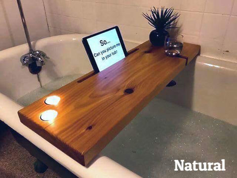 Dub Tub Bath Tub Shelf Natural 2