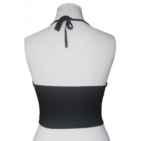 Halter Neck Tied Crop Top