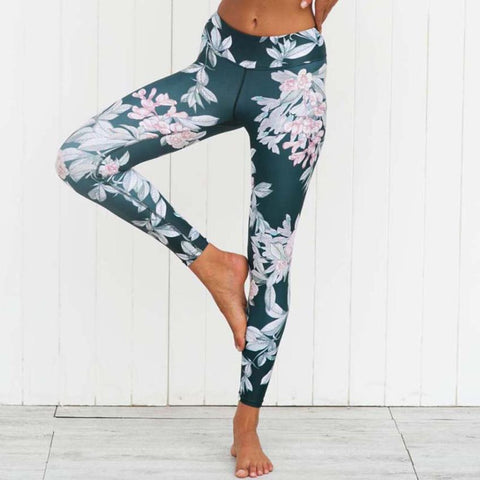 Women Legging Yoga Print Sports Gym Workout 3D Print  Fitness Lounge Athletic Yoga Pants #E0