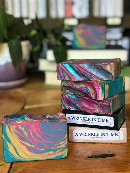 a wrinkle in time handmade artisan soap cold process bookish apothecary