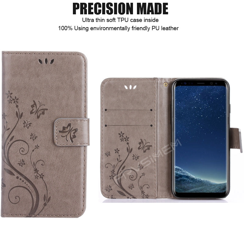 A3 A5 2017 J3 J5 J7 J2 Prime 2016 2017 Grand Prime Leather Flip Cover Wallet Case for Samsung Galaxy S5 S6 S7 edge S8 Plus 1