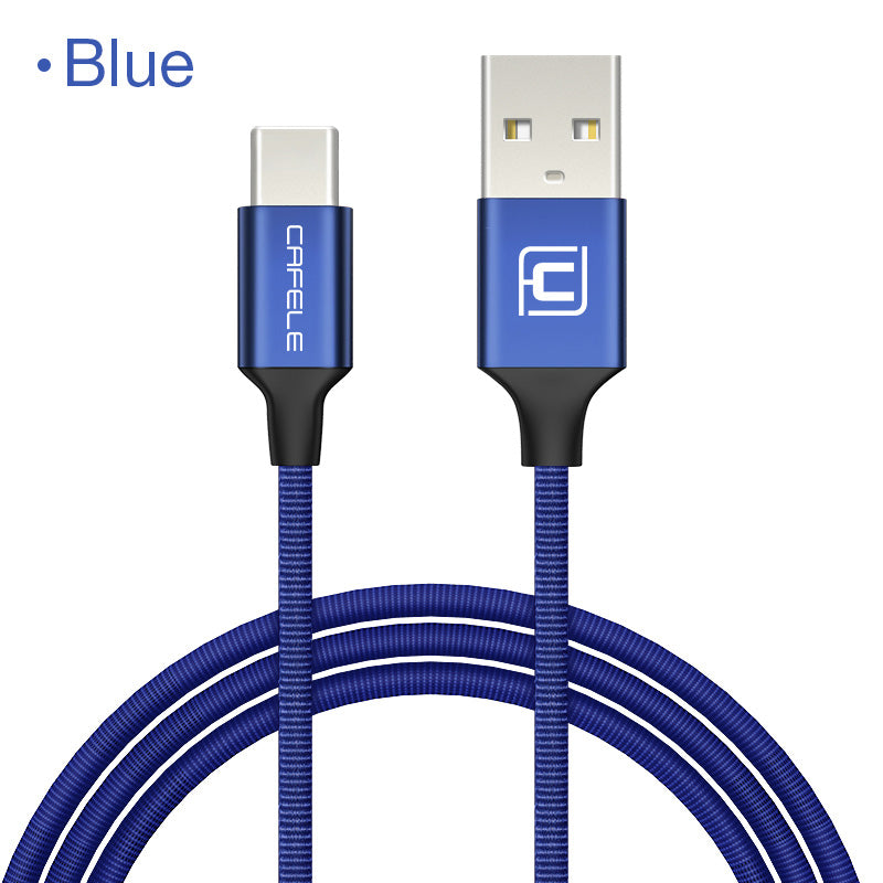 Cafele USB-C Cable for Xiaomi A1 Type C Cable Charging Data Transmission USB Type C Nylon Woven USB Cable for Samsung S8
