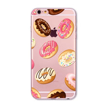Colorful Donuts Macaron Phone Cases For iphone 7 8 7plus 6 6S 5 5S SE 8plus Girls Design Love Heart FlowerPhone Case Capa Shell