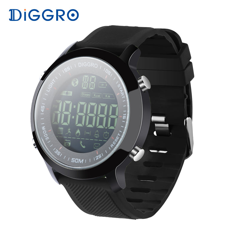 Diggro EX18 Smart Watch Waterproof IP68 5ATM Passometer Message Reminder Ultra-long Standby Swimming Sports Activities Tracker