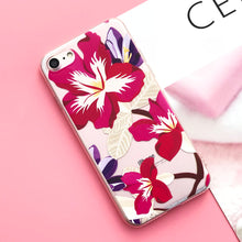 EKONEDA Silicone Case For iPhone 7 Case iPhone 7 Plus Leaves Flower Flamingo Lips Phone Cover For iPhone7 Plus 8 X 6s 5S Case