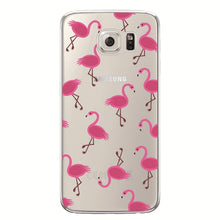 Flamingo Case For Samsung Galaxy S4 S5 S6 S7 Edge S8 Plus A3 A5 2016 2015 2017 J1 J2 J3 J5 J7 Note 8 Transparent Silicone Fundas
