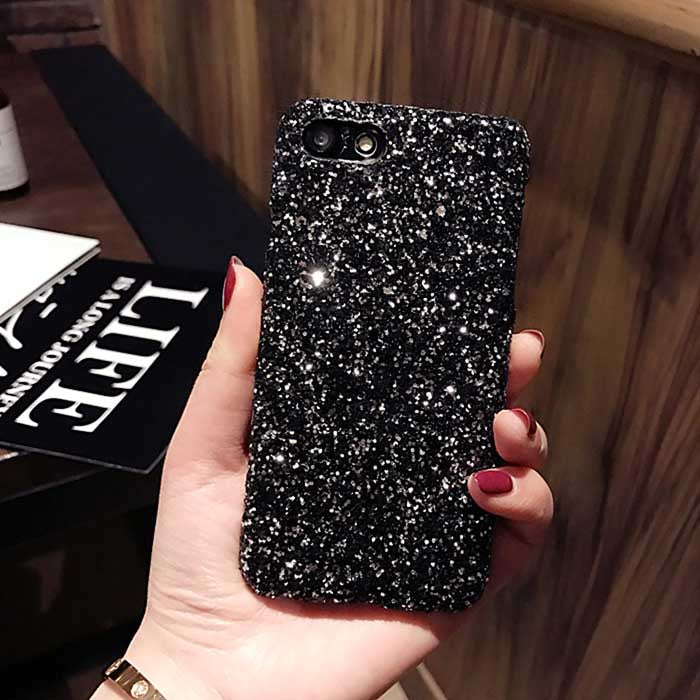Kerzzil Luxury Bling Glitter Shining Flash Powder Cases For iPhone 7 6 6S Plus PC Hard Cover Back For iPhone X 6 6S 8 Plus Capa