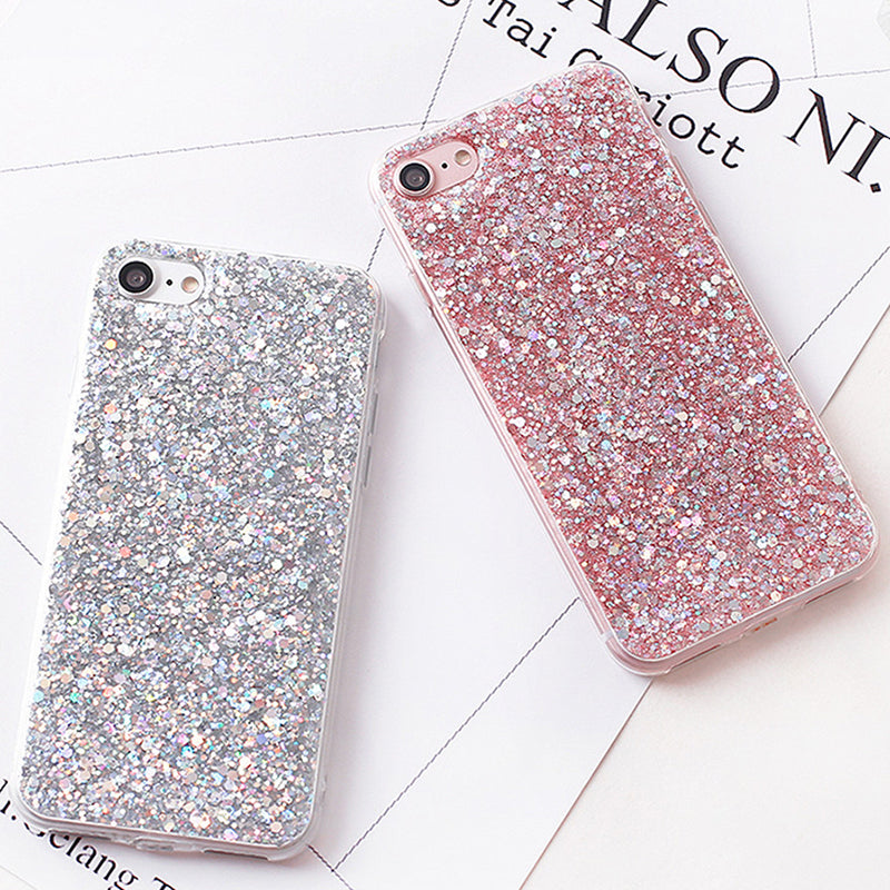 Luxury Shinning Glitter Cover For iphone 7 7 Plus 6 6S Plus SE 5 5S Soft Love Heart Phone Capa Fundas for iPhone7