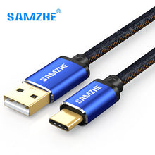 SAMZHE USB 2.0 USB Type C Cable Jeans Fabric 5V 2A Fast Charge Cable Denim Braided Phone Cable for Xiaomi Huawei Letv Samsung