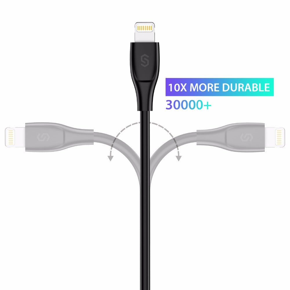 Syncwire High Quality Black 2.4A Fast Charger Lightning To USB Cable 1m MFI Certificated USB Wire For iPhone 5 SE 5S 6 6s 7 plus