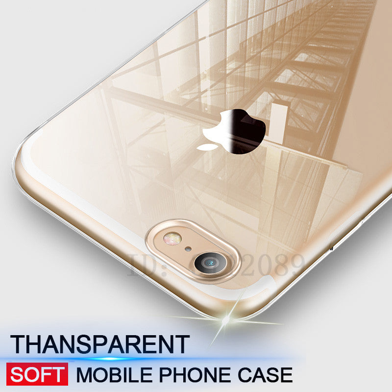 Ultra Thin Soft transparent TPU Case For iPhone 6 6s Plus 5 5s clear silicone Case Cover For iPhone 7 7 Plus Phone Bag Case