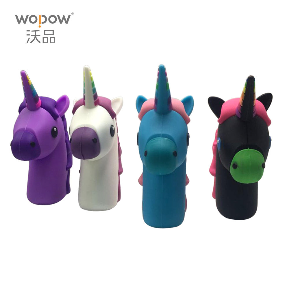 WOPOW Emoji power bank 2000MAH Unicorn Cartoon USB Output powerbank portable External battery pack charger with package