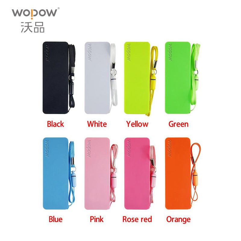 WOPOW Portable Practical Ultra-thin 2000mAh Vivid colors mobile USB power bank general charger external backup battery pack