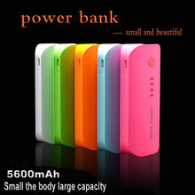 Wopow Power Bank Real 5600mah USB External Mobile Backup Powerbank Battery for iPhone iPod iPad mobile Phone Universal Charger