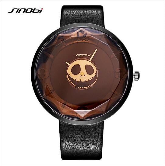 SINOBI top brand fashion leather ladies watch