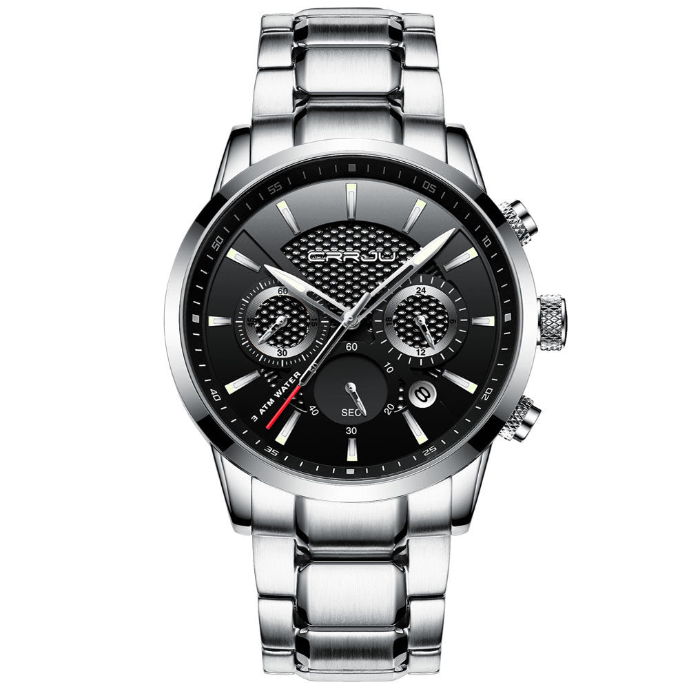 Men's Full Steel Waterproof Chronograph Sports Watches