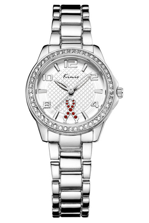 Kimio luxury casual fashion all-steel diamond ladies watch