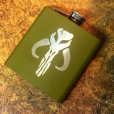 Boba Fett Mandelorian Engraved Flask - Black Dog Engraving