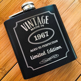 Engraved Liquor Label Birthday Flask - Black Dog Engraving