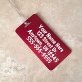 Good Times and Tan Lines Personalized Aluminum Luggage Tag - Black Dog Engraving