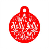 Holly Jolly Christmas Pet Tag - Black Dog Engraving