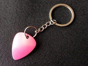 Laser Engraved Guitar Pick Key Chain - Black Dog Engraving