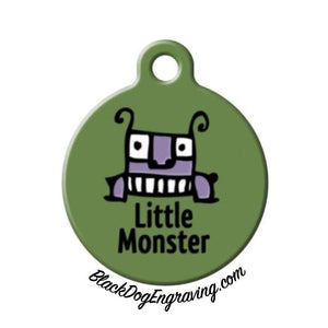 Little Monster Engraved Pet ID Tag