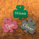 Lucky Shamrock Clover Pet ID Tag - Black Dog Engraving