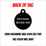 Microchipped Cat Engraved Pet ID Tag - Black Dog Engraving