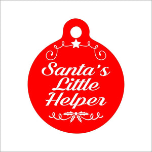 Santa's Little Helper Pet Tag