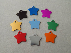 Small Star Pet Tag - Black Dog Engraving