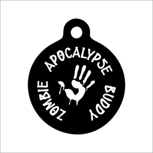 Zombie Apocalypse Buddy Pet Tag
