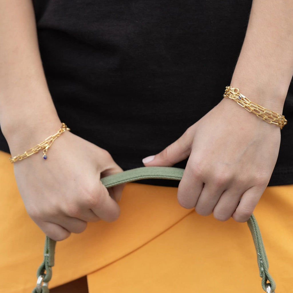 Mini Chunky Chain Bracelet - Yellow Gold