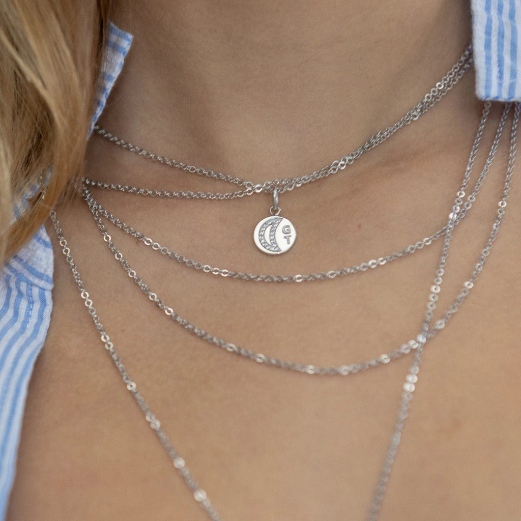 Necklace with GT Medallion - Silver