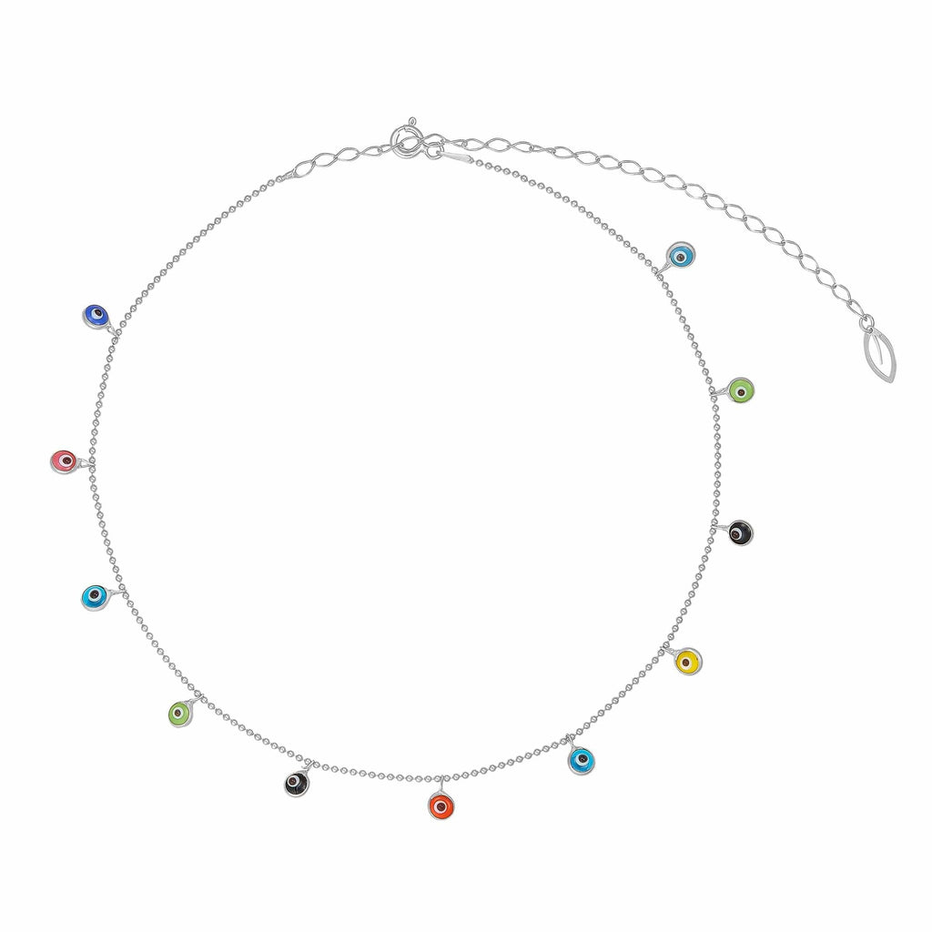 Rainbow Eye Choker - Silver
