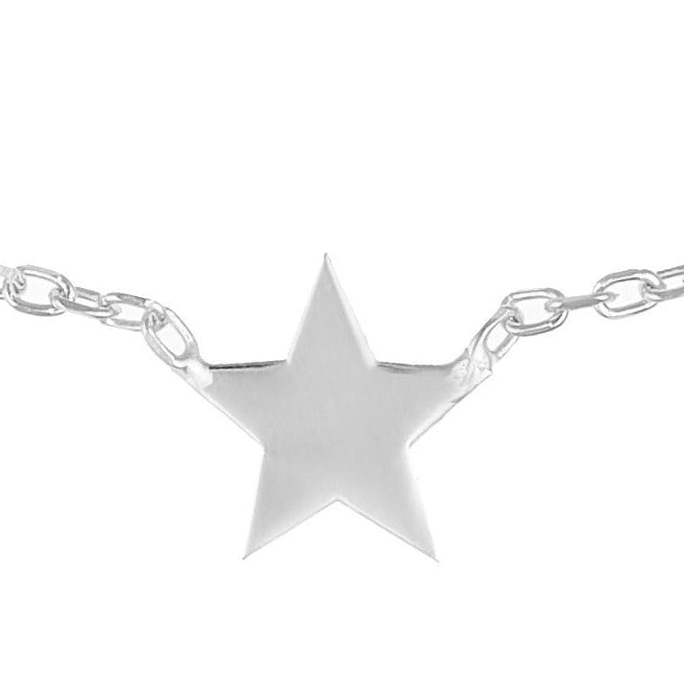 Single Star Necklace - Silver - Golden Tangerine