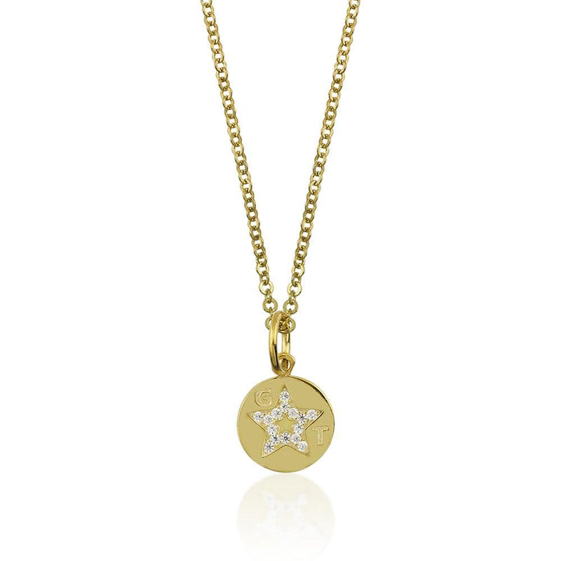 Necklace with GT Medallion - Yellow Gold