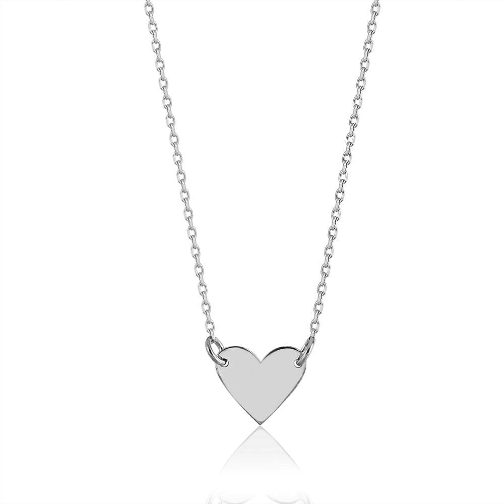 Single Heart Necklace - Silver - Golden Tangerine