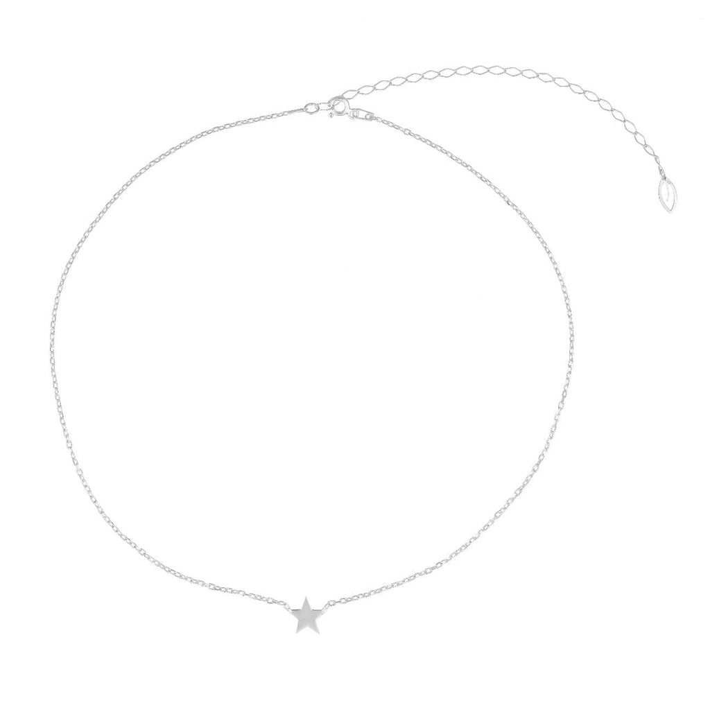 Single Star Necklace - Silver