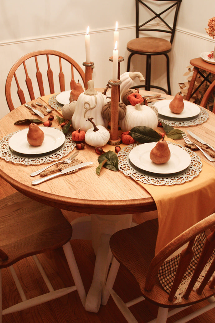 Fall Inspired Thanksgiving Tablescape