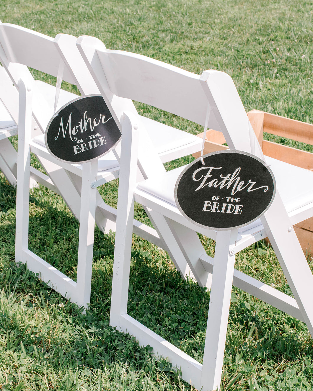 Parents Of The Bride Chair Signs