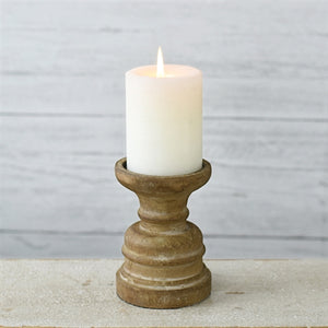 "5"" Wood Candle Pillar"
