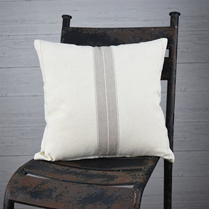 Farmhouse Ticking Stripe Pillow 16""