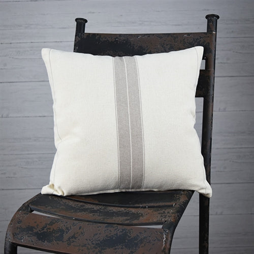 Farmhouse Ticking Stripe Pillow 16
