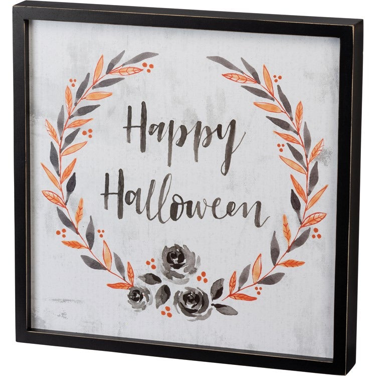 """Happy Halloween""- Inset Box Sign"