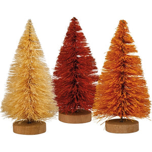 Fall Bottle Brush Trees (Set of 3)
